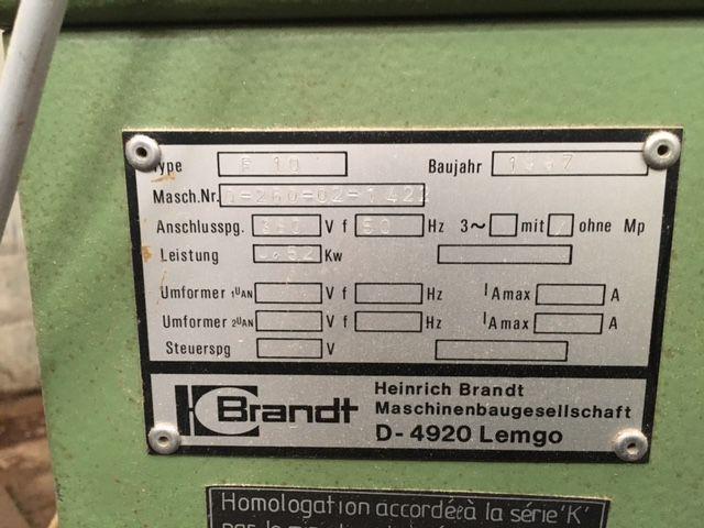Affleureuse de forme Homag/brandt - type F 10