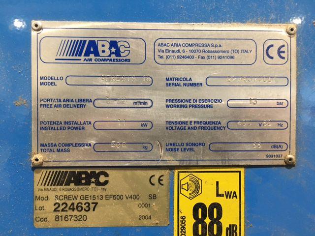 Compresseur à vis ABAC type GENESIS 15