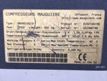 Compresseur à vis MAUGUIERE type MAVRS100/8 avec assécheur