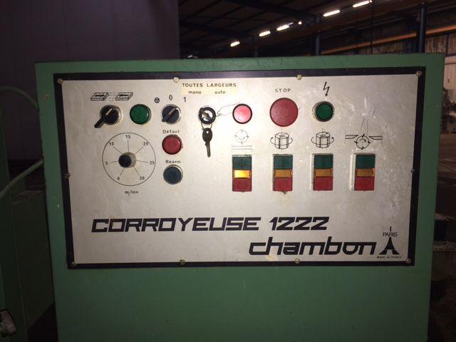 Corroyeuse 4 farces CHAMBON-type 1222