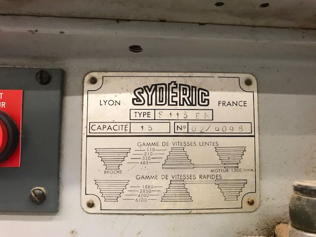 Perceuse à colonne SYDERIC type S115N