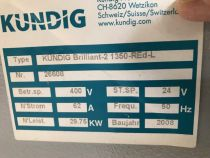 Ponceuse Calibreuse KUNDIG type BRILLIANT 2 1350 RED L