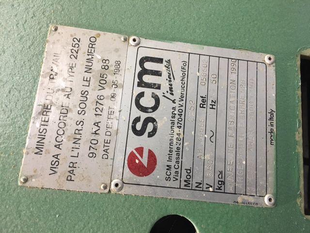 Raboteuse dégauchisseuse SCM type 2252