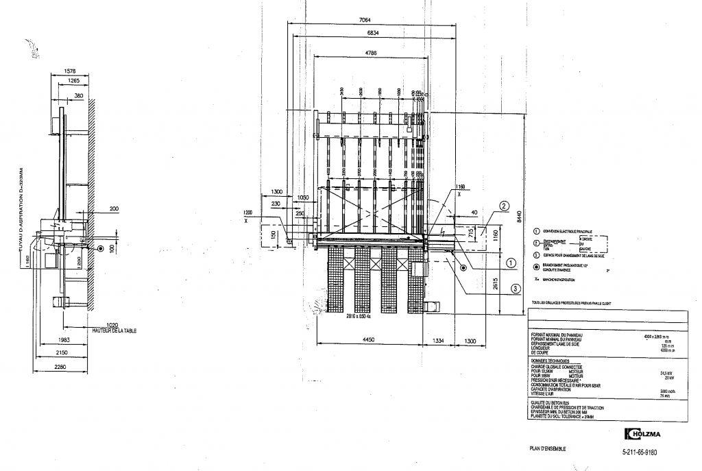 Scie horizontale à commande numerique HOMAG - type OPT HPP 11/43