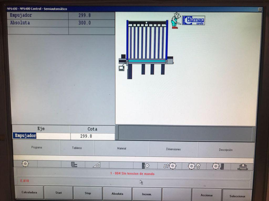 Scie horizontale à commande numérique Homag - type Profiline CH 12-32-32
